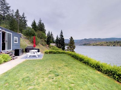 Photo for NEW LISTING! Lakefront & dog-friendly mobile home w/dock!