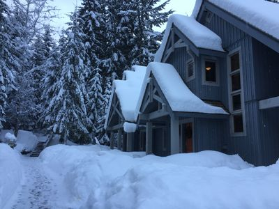 Photo for Luxury 4 Bedroom, Woodland setting, Ski Home! Hot Tub, Free Shuttle!