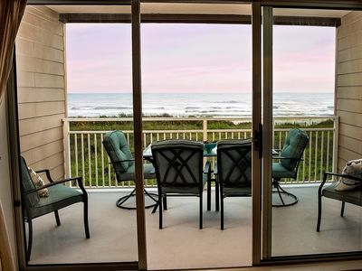 Photo for Private Ocean Front Windjammer Condo Spectacular Ocean View Steps From the Beach