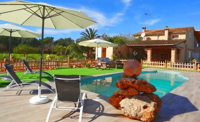 Photo for Son Antem, Air Conditioning  Wi-fi, Pool, Garden,8 kms From the beach Cala Blava