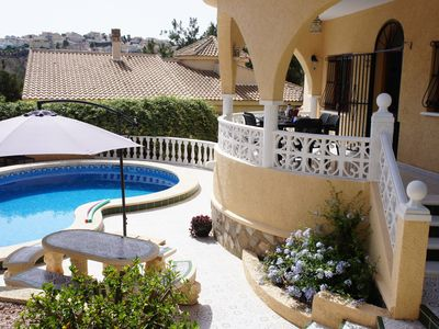 Photo for Stunning detached villa with lovely private pool and close to the golf course