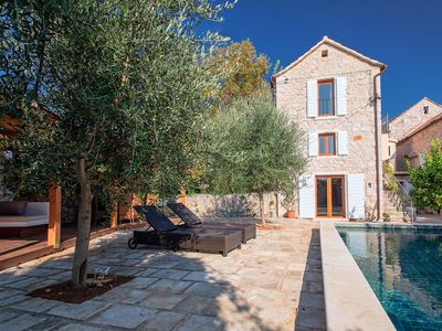 Photo for Beautiful renovated stone house with private pool, walled garden, outdoor living area, 7 bedrooms