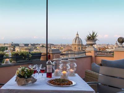 Photo for Sky Terrace Penthouse- Large Terrace with Stunning Views of the Rome Skyline
