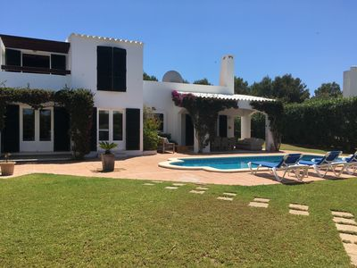 Photo for Beautiful Family Villa with  Private Pool and Garden near to Binibeca Beach