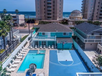 Beach View/Large Heated Pool/Bubble Jet Hot Tub/Twister Water Slide/Basketball Crt/Table Games