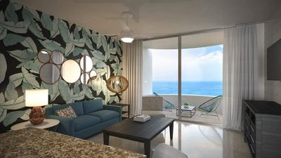 Spacious Living Room with Ocean View