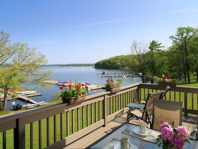 Photo for Spectactular View Luxury Lakefront Vacation Home on Lake Wallenpaupack