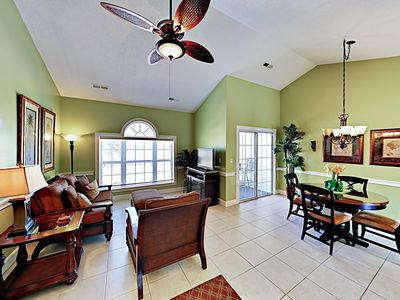 Photo for Classy Condo w/ Balcony, Pool & Golf Course Views - Close to Beaches