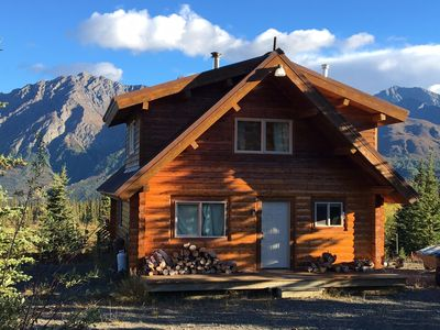 Photo for Beautiful secluded log cabin with stunning mountain views