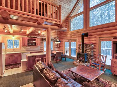Photo for Big Discount for Spring Dates! Island Park Getaway.Cozy Cabin / Private Hot Tub
