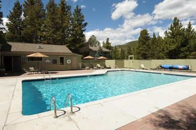 Take a dip in the glorious outdoor pool.