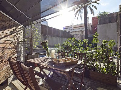 Photo for Apartment in Barcelona with Pool and Terrace in Putxet