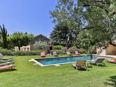 Photo for Saint Rémy de Provence, Mas renovated, air conditioned, heated pool - Guardian
