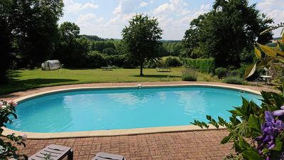 Heated swimming pool May - Sept - 10m x 5m x 1.5m - 23 to 25 degrees