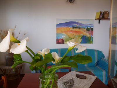 Photo for LA CASA DELL OLMO apartment overlooking the sea and the Aeolian Islands, Zambrone Marina / Tropea
