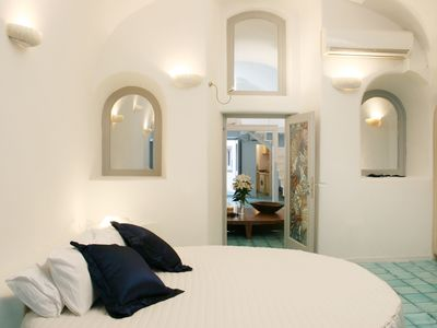 Photo for Blue Star Villa located in Fira Santorini, 3 BEDROOMS 2 BATHROOMS, Jaccuzi, accommodates up to 9 Guests !