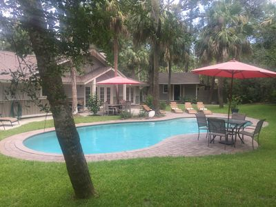 Photo for North Forest Beach,  Coligny,  walk to beach and restaurants, large heated pool