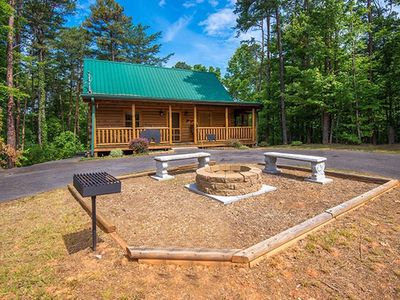 Photo for New Listing! Very Quiet, 3BR w/flat parking, Theatre Room, Hot Tub, and Fire Pit