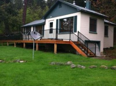 Photo for Beautiful, cozy  Coeur d' Alene lake front cabin.