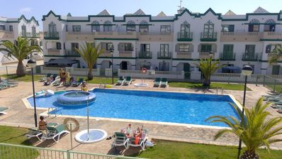 Photo for Beautiful 3 Bedroom Duplex in perfectly situated complex in Caleta De Fuste
