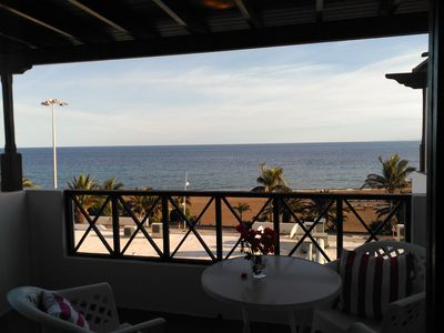 Photo for Apartment Tabaibas in front of large beach with sea views and communal pool