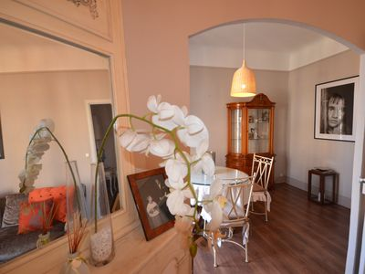 Photo for Spacious 3-bed/2-bath apartment in the heart of Cannes, with Juliette balcony