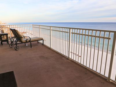 Photo for Gulf Front! Huge Wrap around Balcony Corner Unit, Best View in Gulf Shores!!!