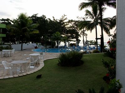 Photo for Apto foot on the beach with view to the sea and pool - Praia das Toninhas, Ubatuba