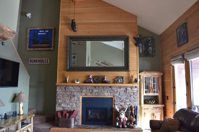 The living area where you can take in the rustic cabin feel!