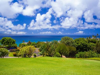 Photo for Enjoy the luxury of a large lawn, perfect for sunbathers! This ocean view villa has it all!