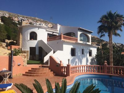 Photo for Superb villa with pool and sea views in the Cumbre del sol in moraira