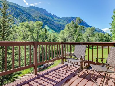 Photo for Waterfront cabins next to nature preserve - private hot tub & river views!