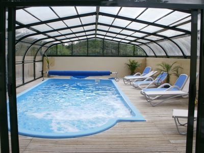 Photo for Lopeau lodge with SPA pool, sundance maxxus 5 minutes from LOCRONAN