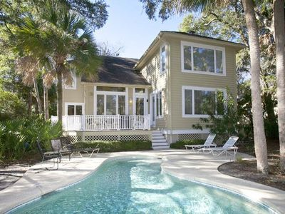 Photo for 7 St. George | Private Dock on Lagoon | Private Pool | Short Walk to Beach | Palmetto Dunes