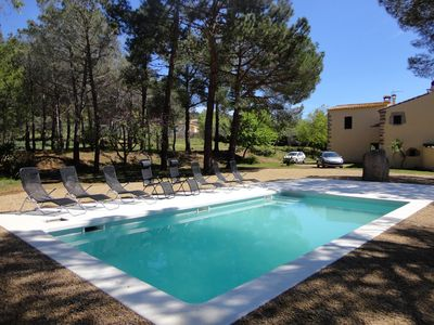 Photo for VILLA SURO, MASIA FOR 14 PEOPLE WITH PRIVATE POOL, PARKING, WIFI