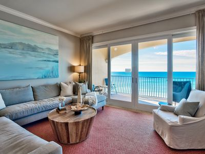 Photo for Adagio C403  OPEN Week of APRIL 6th top floor 4-bedroom directly on the Gulf!