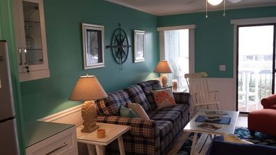 """Photo for NEW LISTING! """"Sea Life"""" OCEAN FRONT condo just completely updated Feb 2019"""
