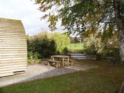 Photo for A premium wigwam with hot tub  that sleeps 4 guests, 2 adults are included.