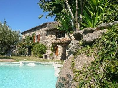 Photo for Mas Cévenol completely renovated, hidden from view and noise with swimming pool