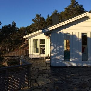 Photo for Beach house in Scandinavian design at the fjord / Bergen, Norway