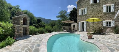 Photo for Magnificent dry stone house, completely renovated, on 2 floors, swimming pool.