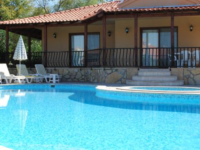 Photo for Stunning Large Private Pool, Children's Pool, Free Wi-Fi. Enclosed Garden