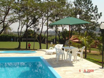 Photo for Farm with pool, barbecue, field football, snooker, t. m., p / 30 people.