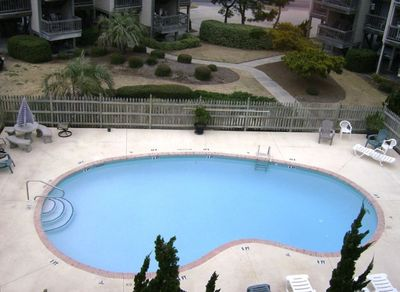 Swimming Pool As Seen From Front Deck.