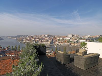 Photo for River View Terrace apartment in São Nicolau with WiFi, air conditioning & roof terrace.
