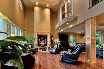 Grand Living Room Fireplace seating