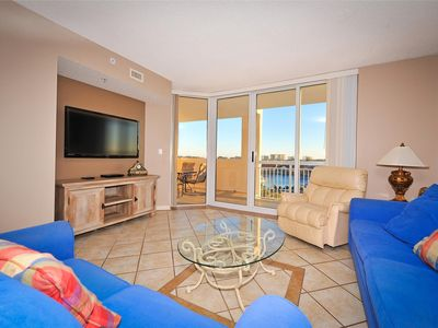 Photo for Waterway View. Beach Shuttle. Huge Pool, Free Wifi | Barefoot North Tower - 609