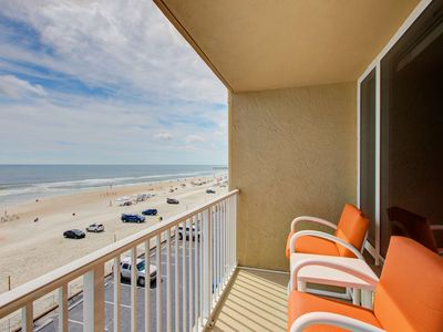 Photo for Sunny & Bright 4th Floor OceanFront Studio-Private Balcony & Stunning Views! Pool & FREE WIFI & HBO!