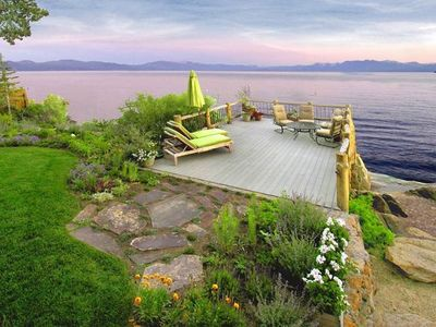 Photo for Seek No Further - Lakefront:  Old Tahoe Charm With Panoramic  Lake Views