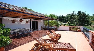 Photo for Villa Noialtri lies in the hills around Massa Lubrense inside large grounds with a beautiful view of